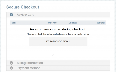 Issues with 2Checkout credit card payments